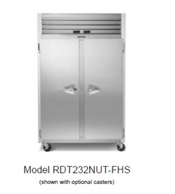 Traulsen RDT232N-HHS 115 2-Section Remote Dual Temp Refrigerator Freezer w/ Half Door, 115/1 V