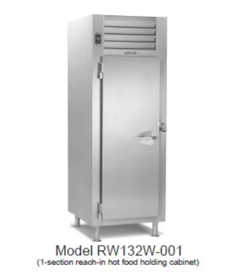 Traulsen RI132LP-COR01 38.8-cu ft Roll-Thru Correctional Heated Cabinet w/ Full Door, 208/115 V