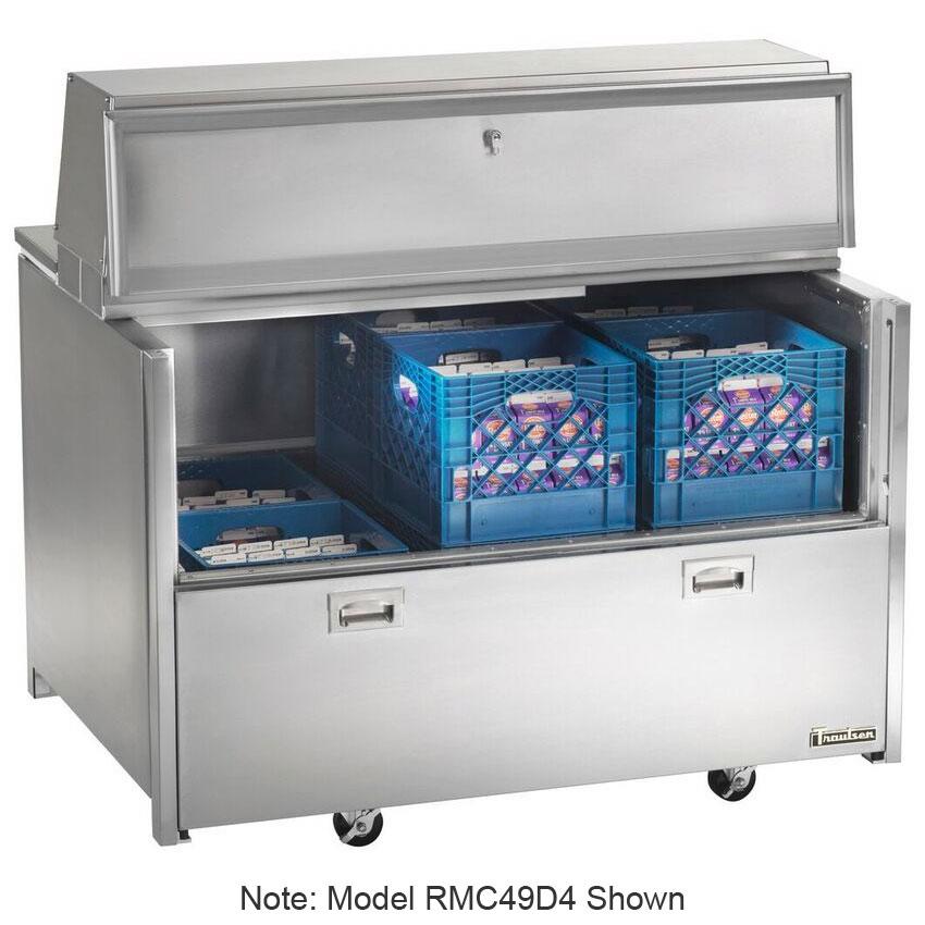 Traulsen RMC58D6 115V 16-Crate Milk Cooler w/ Floor Drain - Side Lift Doors, 115v