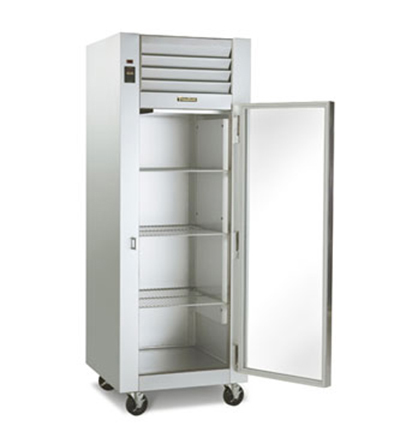Traulsen G11010 115 1-Section Display Refrigerator w/ Full Glass Door, Casters, 115/1 V