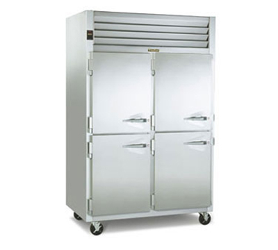 Traulsen G24305P Pass-Thru 2-Section Hot Holding Cabinet w/ Half Solid, 208/115/1 V