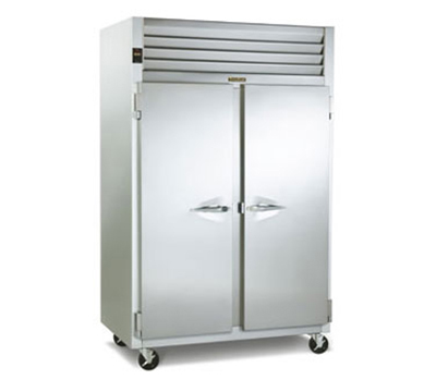 Traulsen G22010R 2-Section Reach In Freezer w/ Full Doors & Hinged Left To Right, 3-Shelves