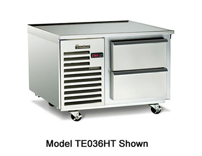 Traulsen TE036HT 115 36-in Refrigerated Equipment Stand w/ 2-Drawers, 115 V