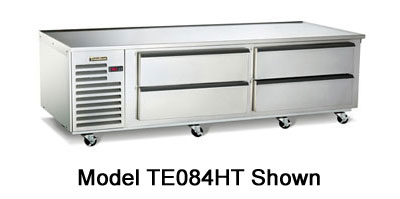 Traulsen TE084HT 115 84-in Refrigerated Equipment Stand w/ 4-Drawers, 115 V