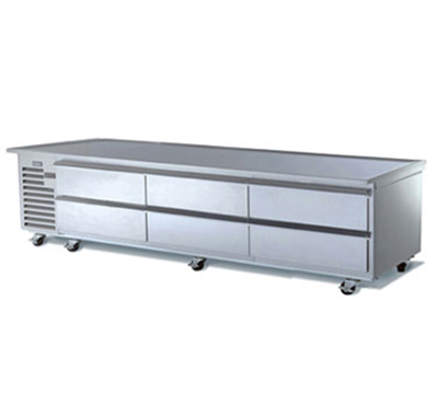 Traulsen TE096HR 115 96-in Remote Refrigerated Equipment Stand w/ 6-Drawers, 115 V