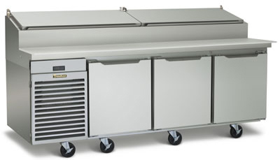 Traulsen TS090HT 115 90-in Reach-In Refrigerated Prep Table w/ Insulated Lid, 115 V