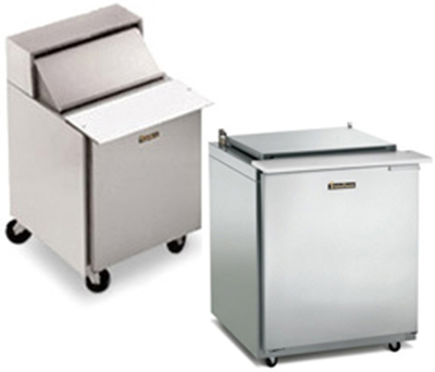 Traulsen UPT7212-LR-SB 72-in Reach In Compact Prep Table Refrigerator Roll Top Lid Hinged Left To Right