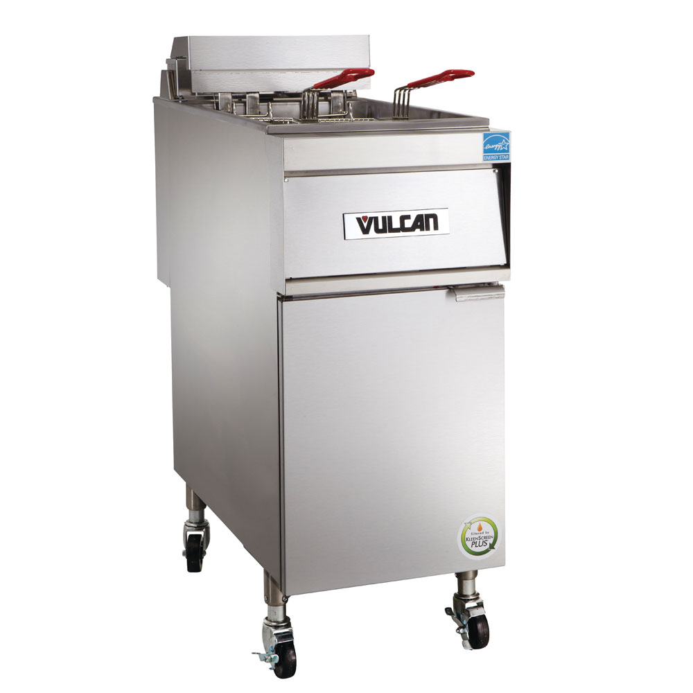 Vulcan-Hart 1ER50A-1 Electric Fryer - (1) 50-lb Vat, Floor Model, 208v/50-60/3ph