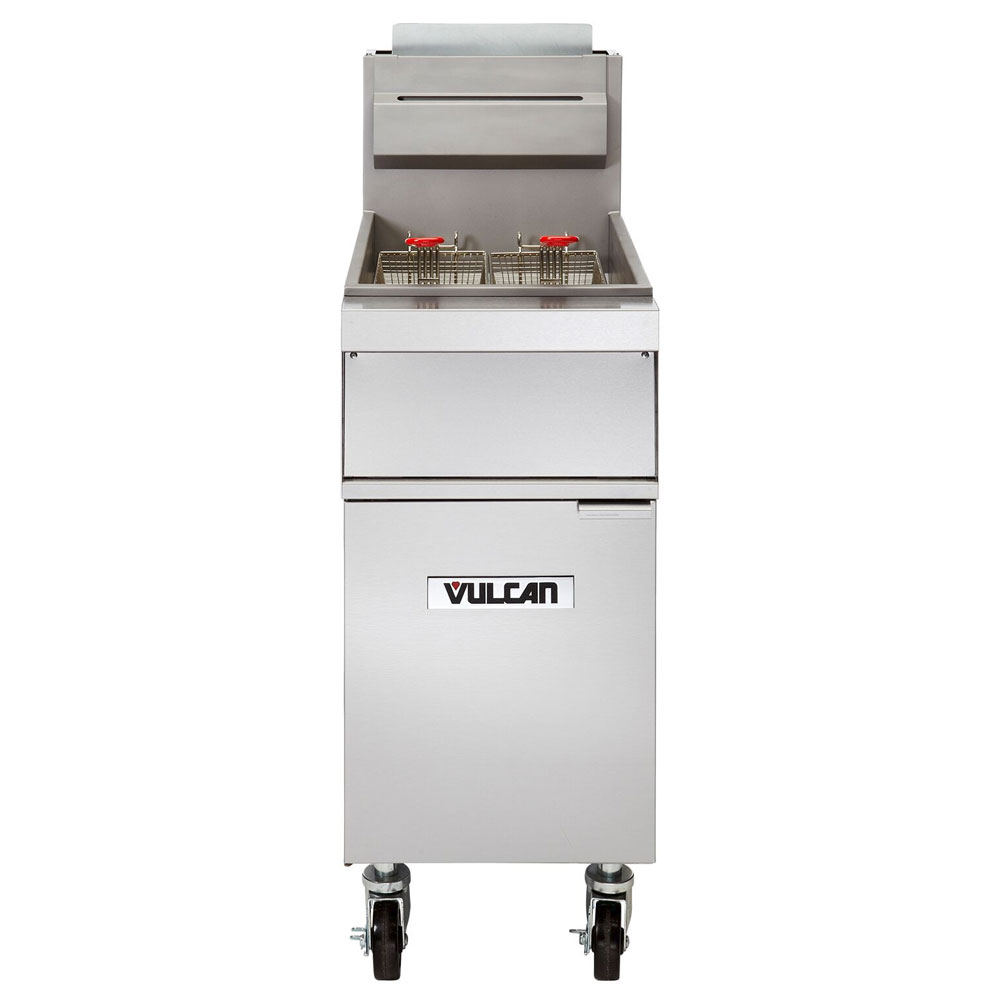 Vulcan-Hart 1GR45M NG Gas Fryer - (1) 50-lb Vat, Floor Model, NG