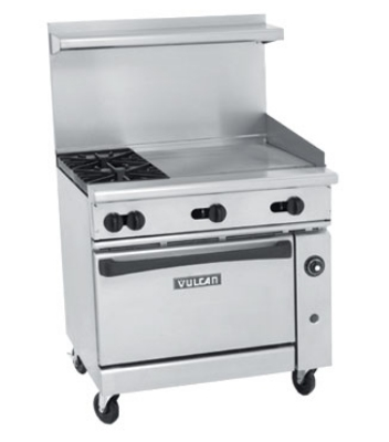 ... -24G LP 36-in Range w/ 2-Burners, 24-in Griddle & Convection Oven, LP