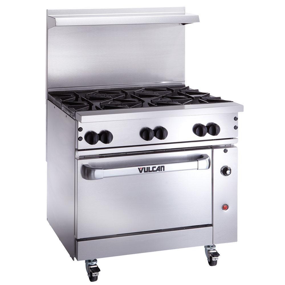 "Vulcan-Hart 36S-6B 36"" 6-Burner Gas Range, LP"