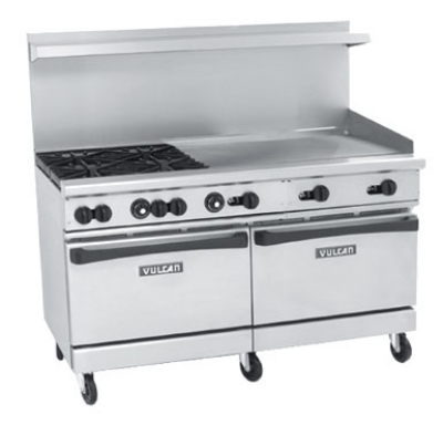 Vulcan-Hart 60SC4B36G NG 60 in Endurance Range 4 Burners 36 in Griddle 1 Standard /1 Convection NG Restaurant Supply