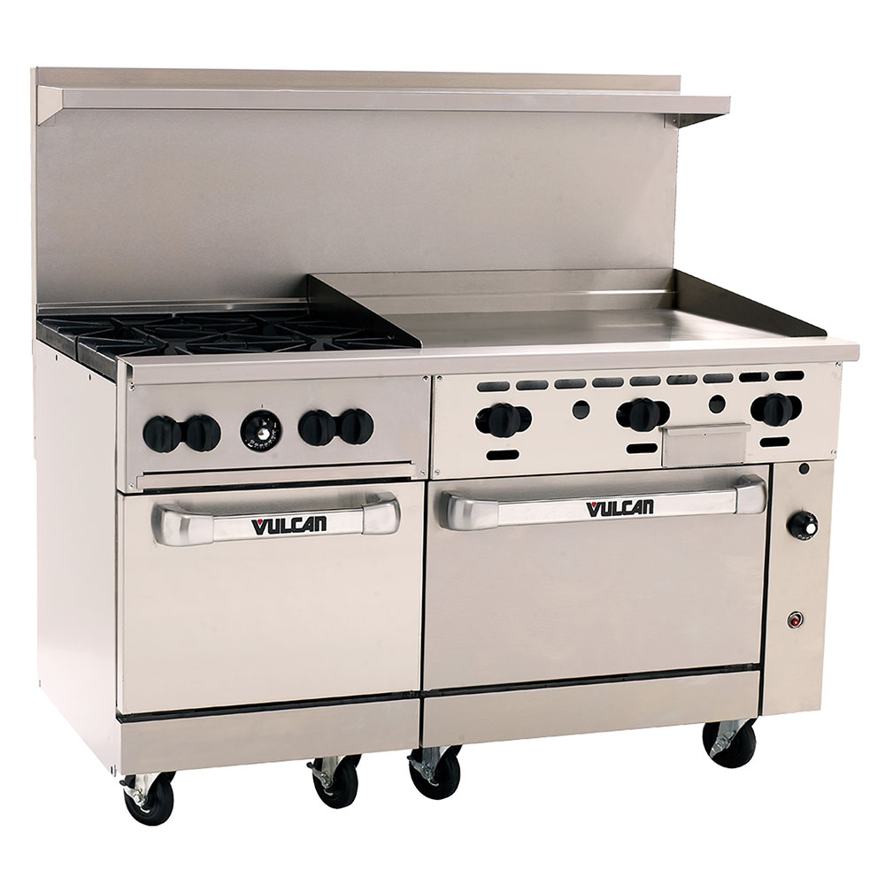 "Vulcan-Hart 60SC-4B-36GT 60"" 4-Burner Gas Range with Griddle, NG"