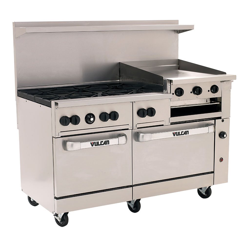 "Vulcan-Hart 60SC6B24GB 60"" 6-Burner Gas Range with Griddle, LP"