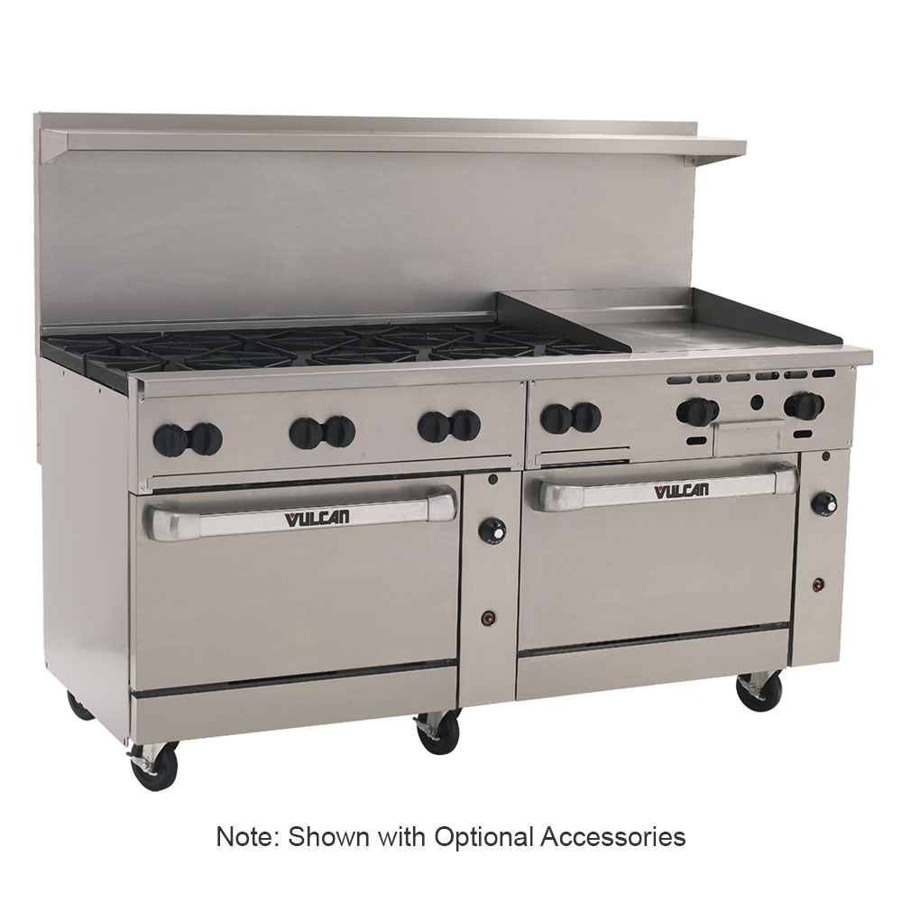 "Vulcan-Hart 72SC8B24G 72"" 8-Burner Gas Range with Griddle, LP"