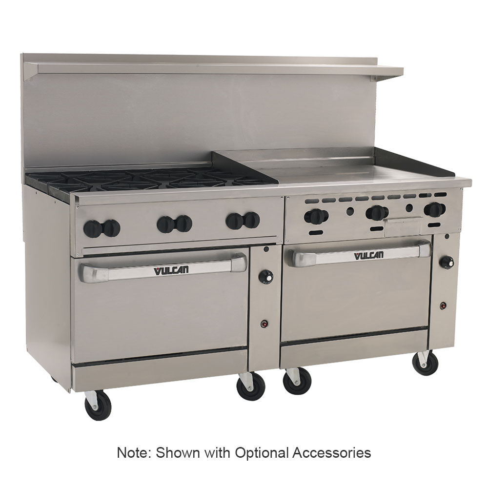 "Vulcan-Hart 72SS-6B-36GT 72"" 6-Burner Gas Range with Griddle, LP"