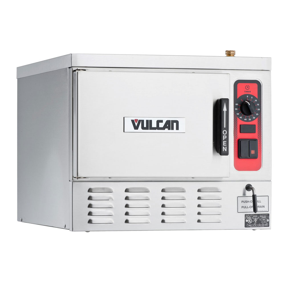 Vulcan-Hart C24EA3-BSC 2081 Countertop Convection Steamer w/ Timed Drain, Manual, 208/1 V