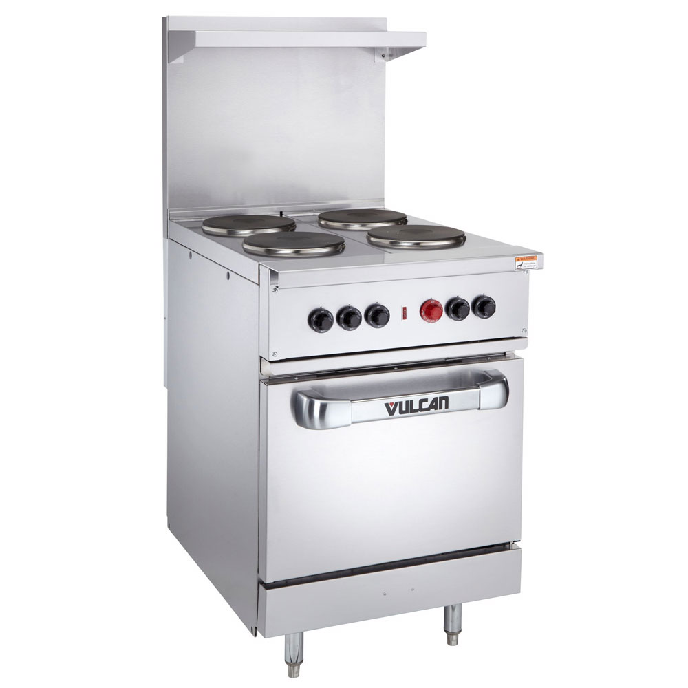 "Vulcan-Hart EV24-S-4FP-240 3 24"" 4-Sealed Element Electric Range, 240/3v"
