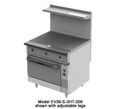 "Vulcan-Hart EV36-S-3HT-2403 36"" Electric Range with (3) Hot Top, 240/3v"