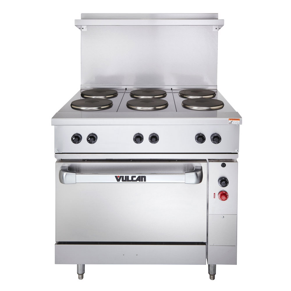 "Vulcan-Hart EV36-S-6FP-2081 36"" 6-Sealed Element Electric Range, 208/1v"