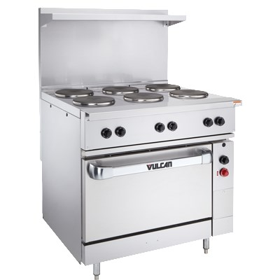 "Vulcan-Hart EV36-S-6FP-240 3 36"" 6-Sealed Element Electric Range, 240/3v"