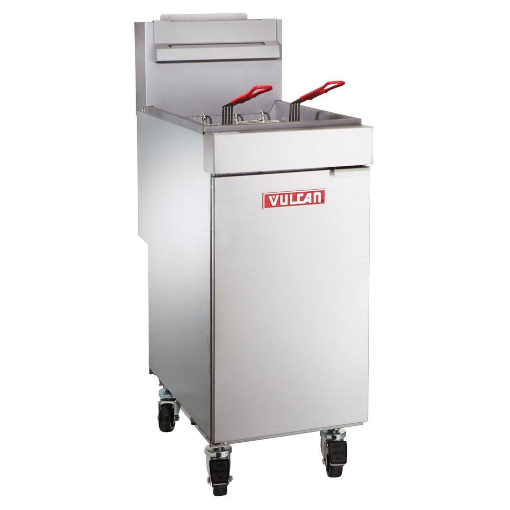 Vulcan-Hart LG300 NG Gas Fryer - (2) 40-lb Vat, Floor Model, NG