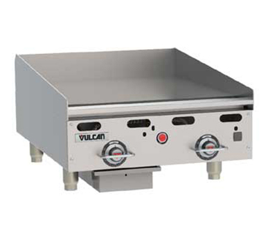 Vulcan-Hart MSA24-30 NG 24-in Heavy Duty Griddle w/ Manual Ignition, Countertop, NG