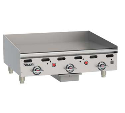 Vulcan-Hart MSA36-30 NG 36-in Heavy Duty Griddle w/ Manual Ignition, Countertop, NG