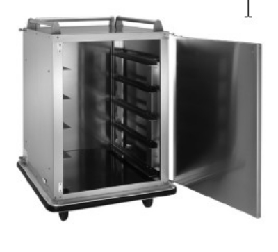 Vulcan-Hart RS-10 28-in Room Service Cart w/ 3-Sided Top Rail, Non-Marking Bumpers