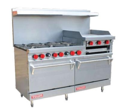 Vulcan-Hart 60 in Value Series Range 6 Burners Restaurant Supply
