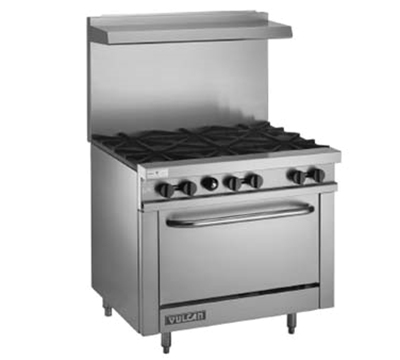 Vulcan-Hart V36 NG 36 in Value Series Restaurant Range, 6 Burners, Standard Oven, NG