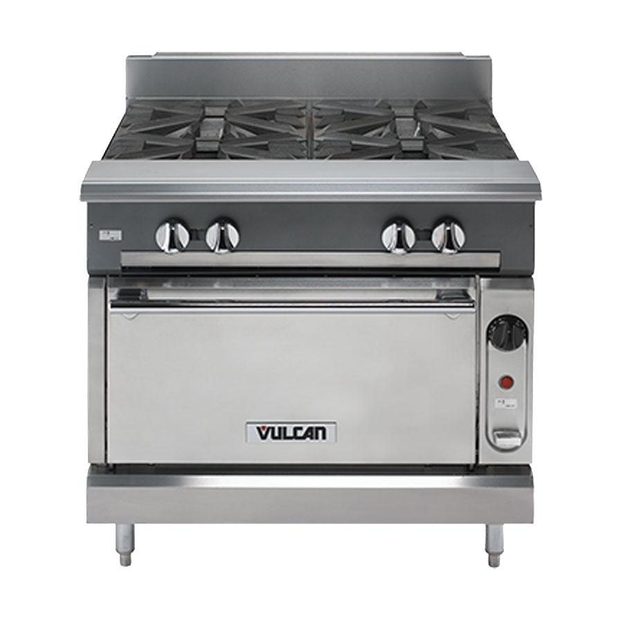 """Vulcan-Hart V4B36 36"""" 4-Burner Gas Range, LP"""