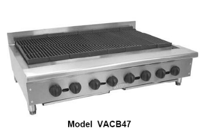 Vulcan-Hart VACB72 LP 13 Burner Achiever Charbroiler 72 in W Cast Iron Radiants & Top Grates LP Restaurant Supply