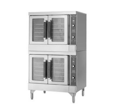 Vulcan-Hart VC44GD NG Double Convection Oven w/ Solid State Controls, 44,000-BTU ea, NG