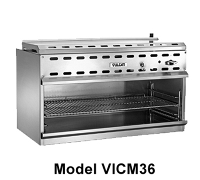 "Vulcan-Hart VICM48 48"" Infrared Burner Gas Cheese Melter, NG"