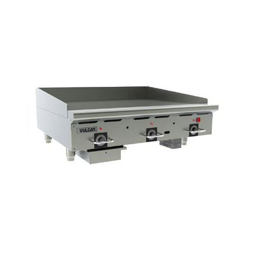 Vulcan-Hart 36RRG NG 36-in Countertop Griddle w/ 18mm Composite Material, Stainless Surface, NG
