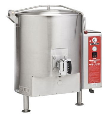 Vulcan-Hart GT150E NG Fully Jacketed Stationary Kettle, 150-Gallon Capacity, NG