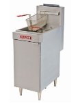 Vulcan-Hart LG500 LP Economy Fryer, 22 in W, 65-70 lb Capacity, Twin Baskets, LP