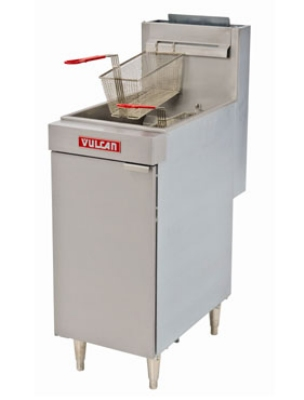 Vulcan-Hart LG400 NG Economy Fryer, 15-1/2 in W, 45-50 lb Capacity, Twin Baskets, NG
