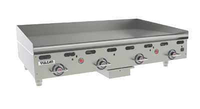 Vulcan-Hart MSA48-30 LP 48-in Heavy Duty Griddle w/ Manual Ignition, Countertop, LP