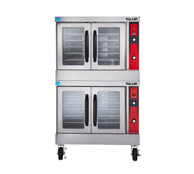 Vulcan-Hart VC44ED Double Full Size Electric Convection Oven - 240/3v