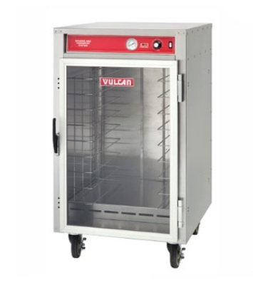 Vulcan-Hart VHFA9 Mobile Heated Cart, Uninsulated, 9 Pans, Polycarbonate Door, SS, 120 V