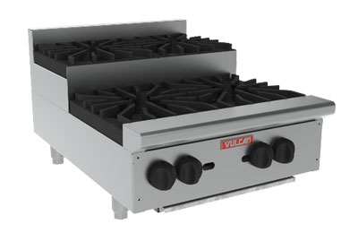 Vulcan-Hart VHP424U NG 24-in Achiever Hotplate w/ 2-Open Burner, 2-Step-Up Burner, NG