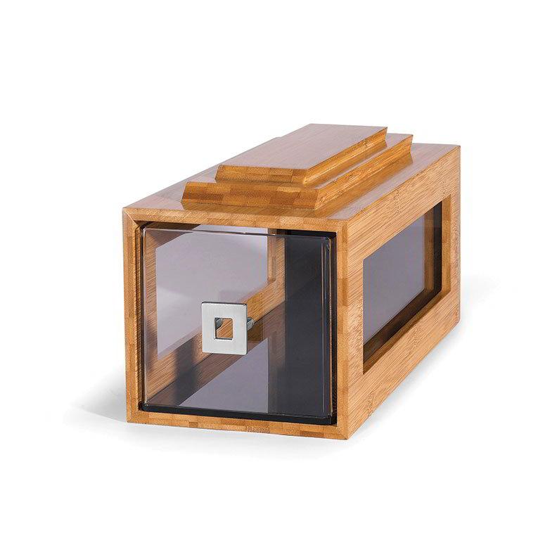 Rosseto Serving Solutions BD106 Block Frame Bakery Drawer - Bamboo Frame