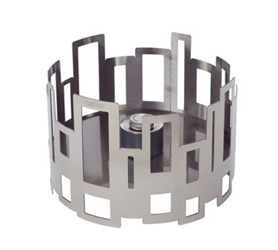 """Rosseto Serving Solutions SM110 14"""" Round Warmer/Chafer - 10"""" High, Stainless"""