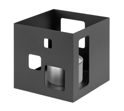 "Rosseto Serving Solutions SM140 7"" Square Warmer - Black"