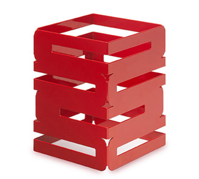 "Rosseto Serving Solutions SM185 8"" Square Multi-Level Riser - Red Gloss Finish"