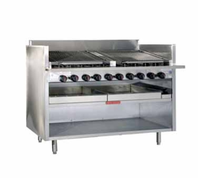 Magikitch'n FM-RMB-636 LP 36-in Radiant Charbroiler, Floor Model, LP