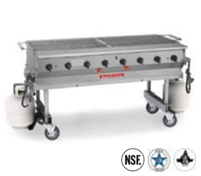 "Magikitch'n MCSS-30 30"" Transportable Gas Grill - Radiants, All Stainless, LP"