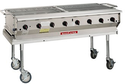 Magikitch'n NPG-30 NG 30-in Modular Radiant Transportable Aluminized Grill, NG